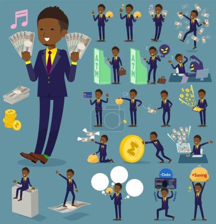 flat type Short hair businessman black_money