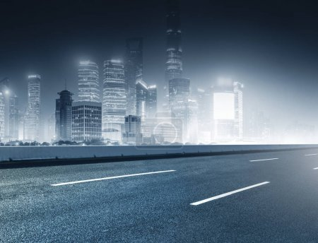 Photo for Urban construction roads and skyline - Royalty Free Image