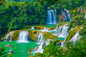Landscape with Waterfall in China, Asia