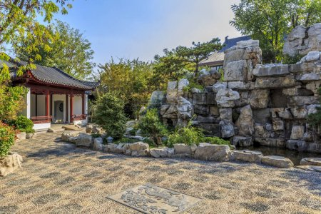 Photo for Chinese classical garden traditional background - Royalty Free Image