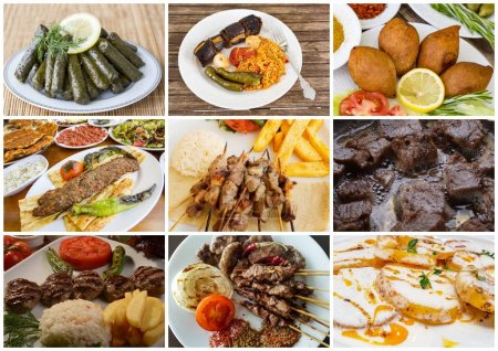 Turkish foods delicious collage