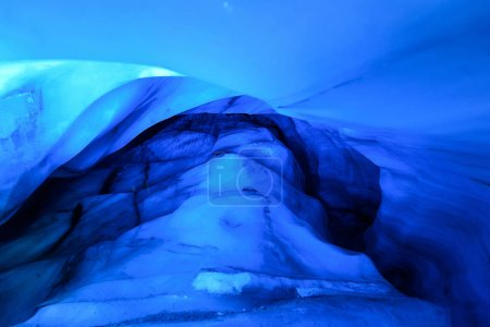 The polar arctic Northern ice cave in Norway Svalbard in Longyearbyen city