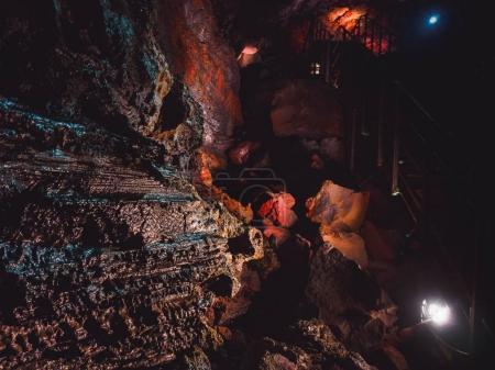 Inside the magnificent lava tunnel