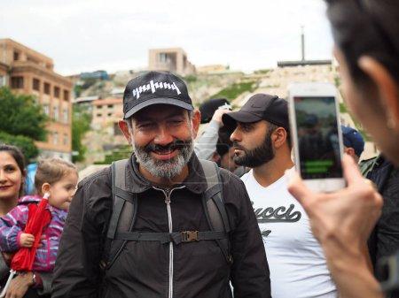 Photo for Yerevan, Armenia. April 29th,2018. Nikol Pashinyan, an Armenian politician during the protest in Yerevan - Royalty Free Image