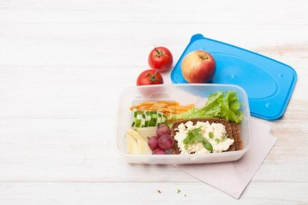 Photo for Snacks with you in the container for meals at school and at work. Space for text, background image. - Royalty Free Image