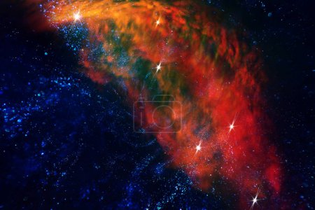 Photo pour Univers de l'espace lointain et inexploré d'étoiles et de nébuleuses - image libre de droit