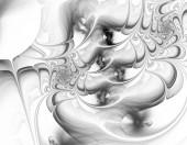 Ilustrace černobílé abstraktní fraktální