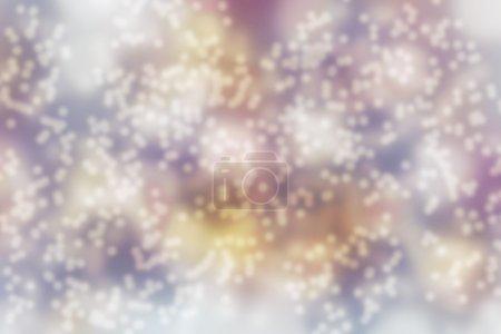 Blurred bokeh light in warm tone background