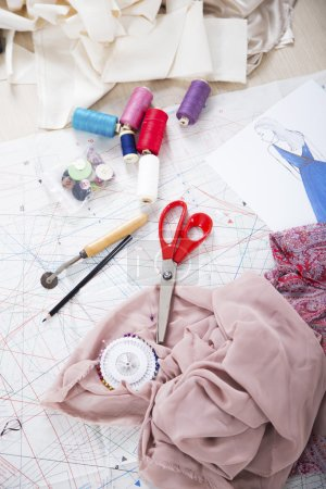Sewing accessories and on a paper pattern