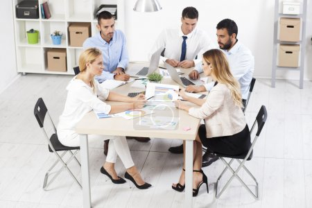 business people having a meeting at the office