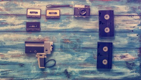 Video and photo cameras, audio cassettes