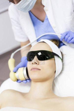 Laser treatment at salon