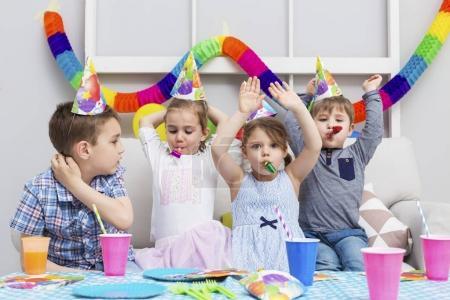 children having fun at birthday party