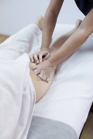Anti cellulite massage for young woman