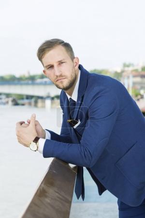 young beautiful fashionable businessman