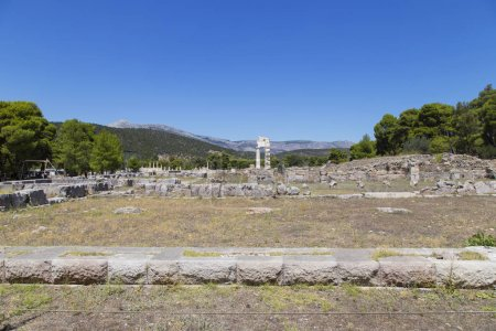 Ruins of ancient temple in Epidavros