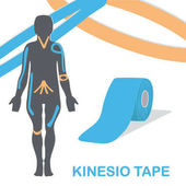 Kinesio tape improves nerve receptors and reduces pain
