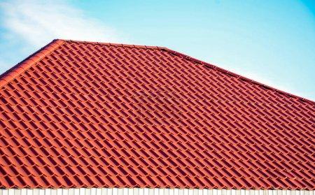 closeup tiled roof