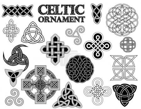 Set of Ancient pagan Scandinavian sacred symbols a...