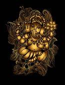 Gold Ganesha 24