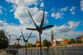 WROCLAW, POLAND: Wroclaw Cathedral. Cathedral of St. John the Baptist. Unusual sculpture of birds.