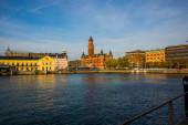 HELSINGBORG, SWEDEN: View of the City Hall Helsingborg, Sweden.
