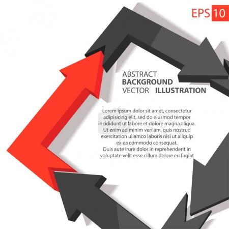 Business infographic 3D. Abstract background.