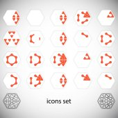Abstract icons set Vector Illustration