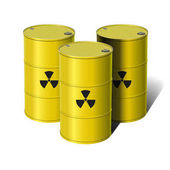 Barrel with sign Radiation Vector illustration