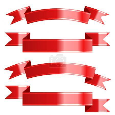 Ribbon set. Vector Illustration