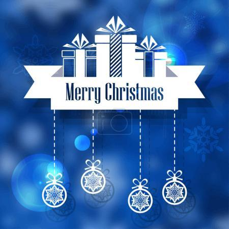 Merry Christmas banner. New Year concept. Vector Illustration