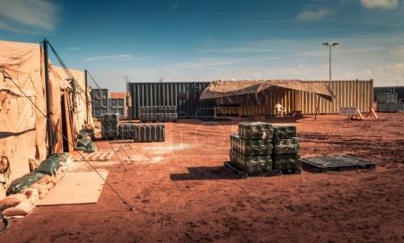 Photo pour Camp militaire maritime, personne, nulle part dans le monde - image libre de droit