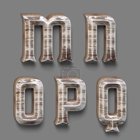 aged wooden stylized font