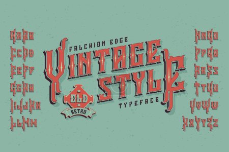 Vintage style font.