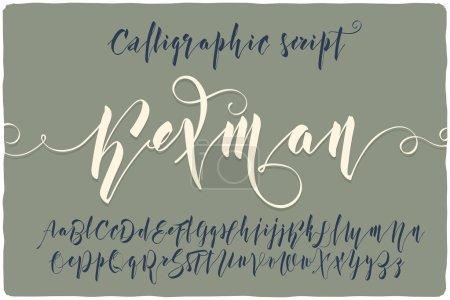 "calligraphic script font named ""Kexman"""