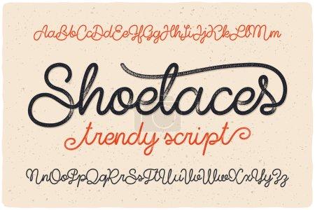 "font script named ""Shoelaces"""
