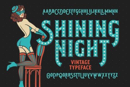 Vintage font with female dancer