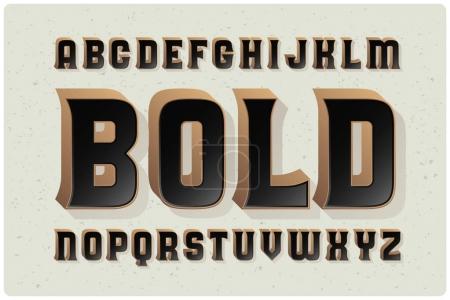 Illustration for Bold font typeface, vector illustration - Royalty Free Image
