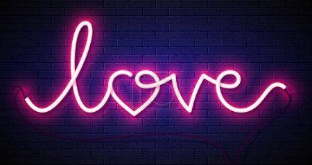 Word Love neon sign