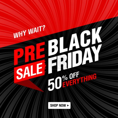 Pre-black Friday Sale banner.
