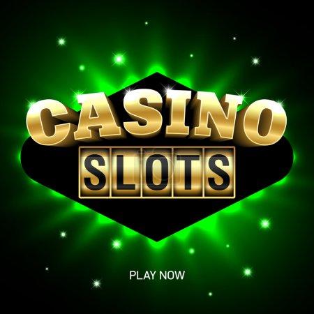 Illustration pour Machines à sous de casino, bannière de casino. Illustration vectorielle - image libre de droit
