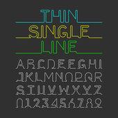 single line font set