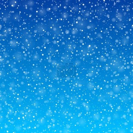 Falling snow winter background
