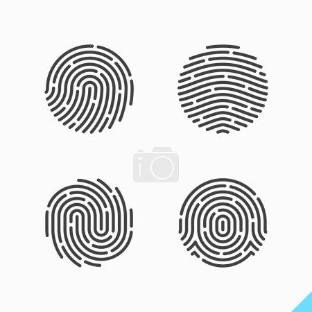 fingerprint recognition icons
