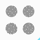 Fingerprint recognition icons