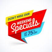 Weekend Specials sale banner