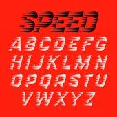 Speed style sport font set vector illustration