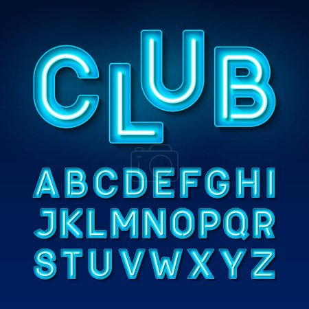 neon glowing alphabet font