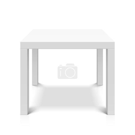 white table with shadow on white