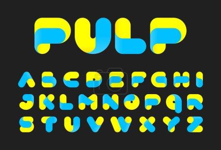 Illustration pour Polices de pâtes alphabet, illustration vectorielle - image libre de droit
